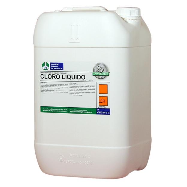 Comprar cloro l quido concentrado para piscinas 25kg for Cloro liquido para piscinas